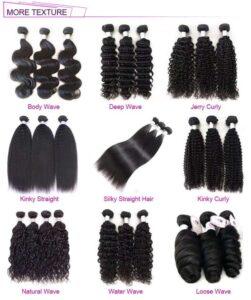 different styles hair bundles