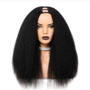 kinky straight U part wig