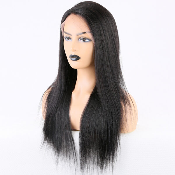 Lace front wigs human hair light yaki