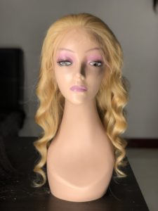 lace front wig blonde 613