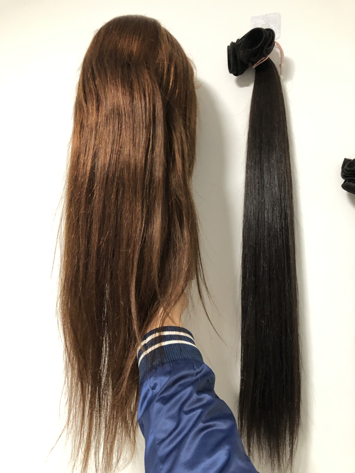 lace front wig brown hair