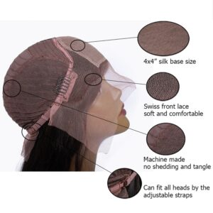 silk top lace front wig cap inside