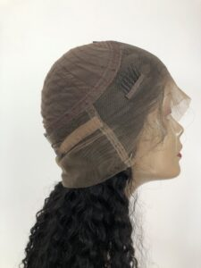 360 lace wig human hair cap inside