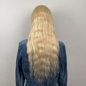 natural straight blonde lace front wig