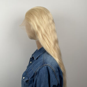 blonde lace front wig side looks