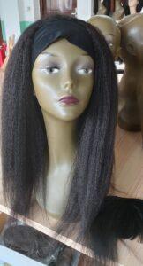 human hair kinky straight wig