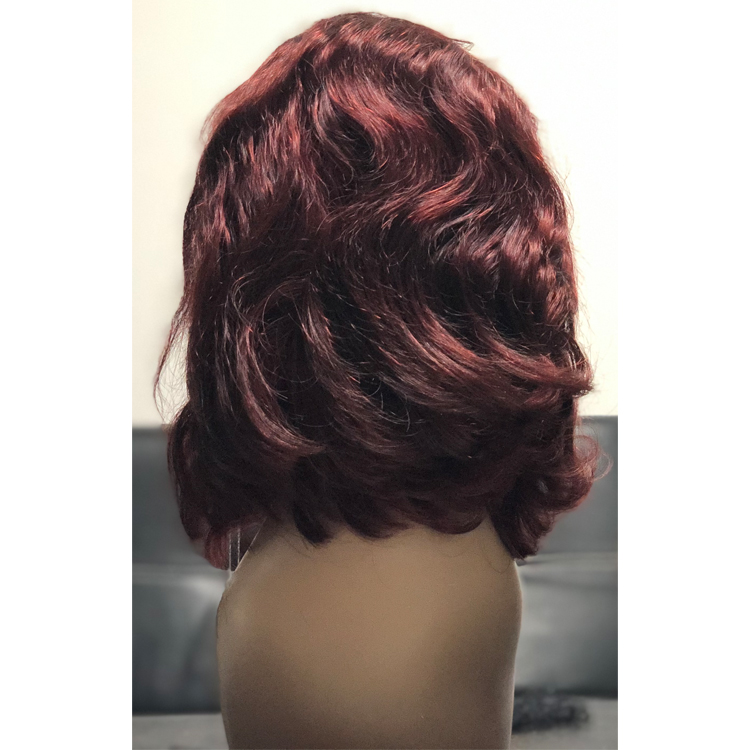 Burgundy lace front wig 99J