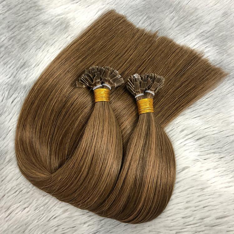 Keratin hot fusion hair extensions