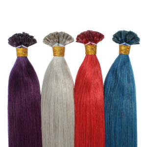 Keratin hot fusion hair extensions U tip