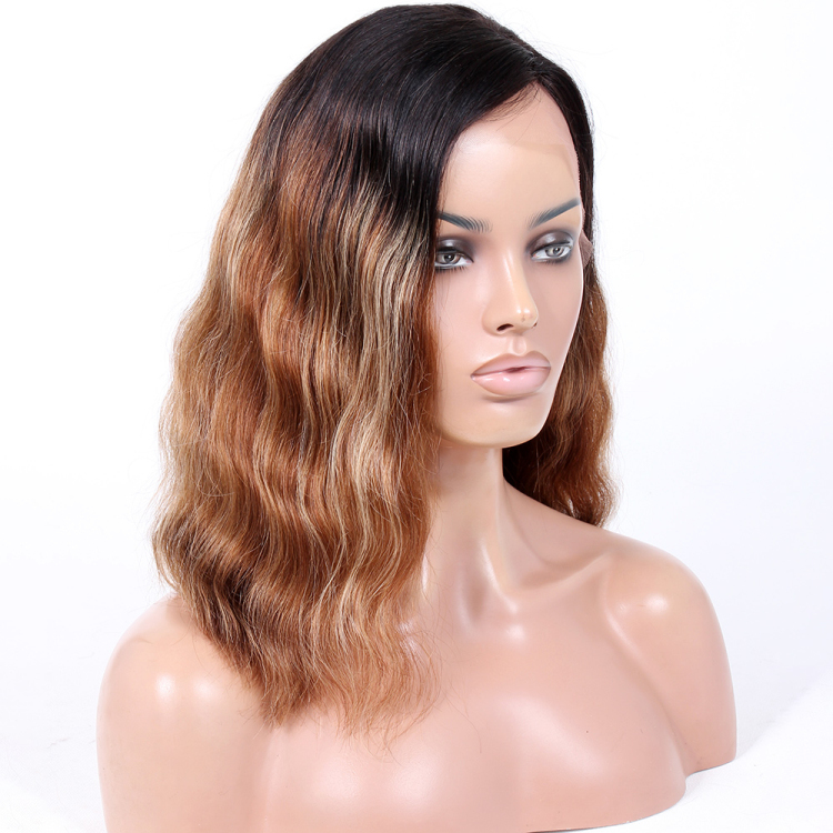 Wavy Human Hair Lace Front Wig