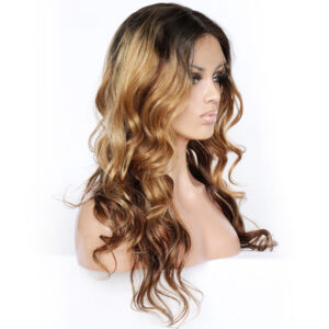Ombre wavy lace front wig