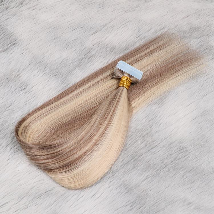 Tape in extensions highlight virgin hair